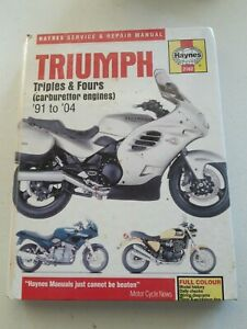 Haynes Triumph Triples and Fours Motorcycle Repair Manual #2162 - Free Postage