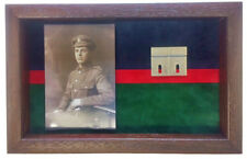 Large Royal Welsh Medal Display Case With Photograph For 3 - 4 Medals