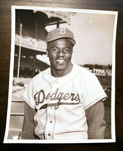 "1950's Jackie Robinson ""Portrait"" Type 1 Original Photo"