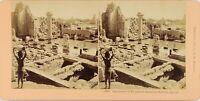 Egitto Karnak Tempio Da Amon, Foto Stereo Vintage Albumina
