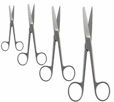 "SET OF 4 OPERATING DISSECTING SCISSORS STRAIGHT SHARP BLUNT 4.5"", 5.5"", 6.5"" ,8"""