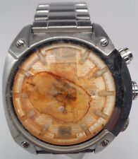 Diesel DZ4203 Chronograph Stainless Steel White Dial Watch Men's FOR PARTS!!!
