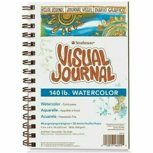 """STRATHMORE WATERCOLOR VISUAL JOURNAL (140 LB.) 9 """" X 12"""", 44 PAGES"""
