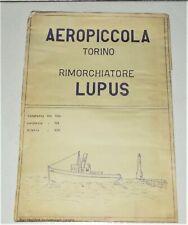Piano di costruzione AEROPICCOLA RIMORCHIATORE LUPUS anni 40 Tavola costruttiva