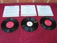 56 57 58 CHRYSLER DESOTO DODGE PLYMOUTH HIGHWAY HIFI RECORDS SET OF THREE 16 2/3