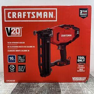 Craftsman CMCN616B V20 Lithium Ion 16GA Straight Nailer Tool Only NEW Ships Free