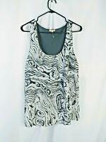 River Island Womens top blouse Vest sleeveless size 8 Grey white