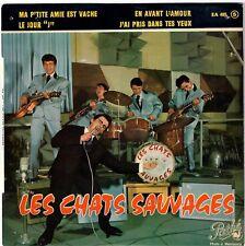 LES CHATS SAUVAGES Le jour J 1961 Yé-Yé Twist Dick Rivers French 60s EP