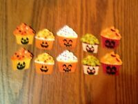 Halloween Cupcake - 10 - Iron-On Fabric Appliques...Small.