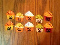 Halloween Cupcake - 10 - Iron-On Fabric Appliques...Small.