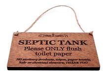 Fosse Septique Réservoir Signe pour Salle de Bain Wc W. C- Acajou Sapele Bois,