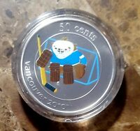 Canada Vancouver 2010 Ice Sledge Hockey SUMI Mascot Encapsulated 50c Coin!!