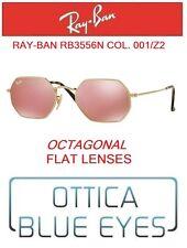 Occhiali da sole RAYBAN RB3556N 001/Z2 OCTAGONAL FLAT LENSES Sunglasses Ray Ban