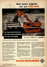 1956 Allis Chalmers Construction Machinery Advertisement: HD-6G Tractor Setup