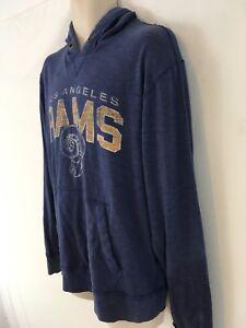 Vtg 47 Brand NFL Team Apparel LA Rams L Blue Hoodie Hooded Sweatshirt