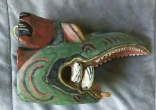 Original Balinese Garuda Mask Hand Carved Wood Bali Wall Art Indonesia