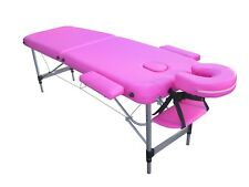 TABLE DE MASSAGE G6S PLIANTE PORTABLE EN ALUMINIUM 2 PLANS ZONES kiné tattoo