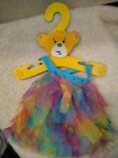 Build a Bear Rainbow Tulle Ruffles Halter Swing Top/Dress Retired Teddy Clothes