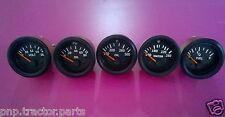 """52mm 2"""" Elec Oil Press 80 psi  Oil Temp  Temp  Volt  Fuel Gauge-Black Bezel"""