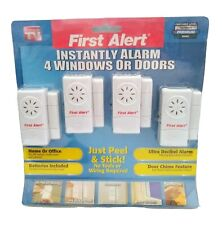 First Alert Security Alaram System For Doors & Windows Package of 4 NEW Sealed