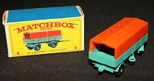 Matchbox by Lesney Products #2 Mercedes Trailer (Near MIB) Vintage England