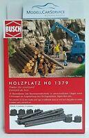 "Busch 1/87: 1379 Zubehör ""Holzplatz"" (Baumstämme, Holzstapel etc.) - Bausatz"