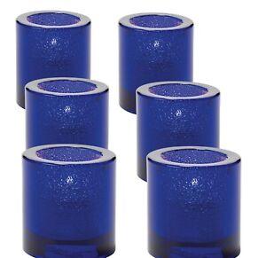 (6-Pack) Tea Candle Holder Cobalt Blue, Hollowick 5140CBLJ Tealight for HD-8