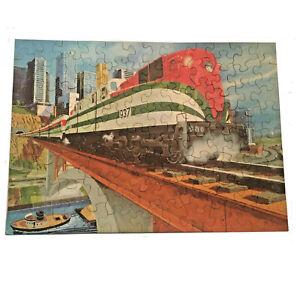 VTG1960's Hallmark Springbok AMERICAN TRAIN CARDBOARD CHILDREN'S PUZZLE Complete