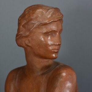 FRITZ KLIMSCH Die Lauschende Art Deco Akt Nude Skulptur Figur figure figurine
