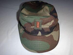 États-Unis Armée 2nd Lieutenant Woodland Camouflage Culot Chapeau Avec Original