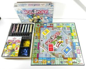 Parker/Hasbro Monopoly Board Game Simpsons Edition 2003 Checked  Complete