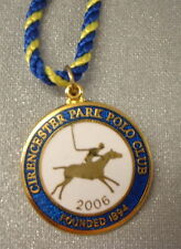 CIRENCESTER PARK POLO CLUB ENAMEL Badge with Cord 2006