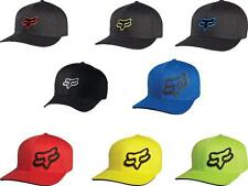 Fox Racing Youth Boys Kids Flexfit Hat Black Blue Red Fox Head Logo Ball Cap