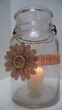 12 Rustic Burlap Daisy Star Mason Jar  Graduation Shower Wedding Wraps Party FE6