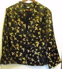 EUC Women U.S. Sz 12/14 Chinese Silk Embroidered Butterfly Jacket Lined Sz. XXL