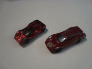 HOT   WHEELS   REDLINE  LOT  CHAPPARAL   RED  +  FORD  MK IV   RED  US  BASE