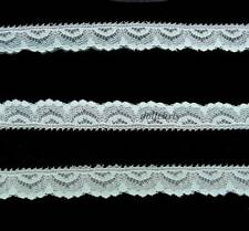 """LACE Vintage 1/2"""" Green Narrow Trim 10 yard Sewing Doll Clothes Crafts Lot 88"""