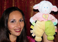 """12"""" Kids Preferred Baby's 1st LAMB First Satin Tags Stuffed Plush Doll Lovey Toy"""