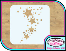 Star Shape Space F Mylar 190 Stencil Reusable Airbrush Paint Wall Art DIY Crafts