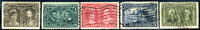 Canada #96-100 used F/VF 1908 Quebec Tercentenary Part Set CV$136.50