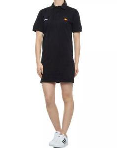 Ellesse Mandel Women's Pique Polo Shirt Tennis Dress Sz. S NEW SGA07766 BLACK