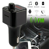 Black Stereo Bluetooth Car Charger Music Adapter Transmitter Cigarette Lighter