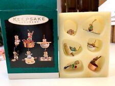 New listing Hallmark Baking Tiny Treats Mouse Mini Ornaments Set of 6 Christmas Tree