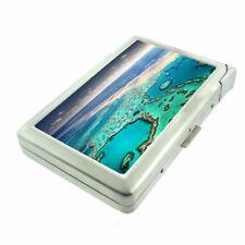 Great Barrier Reef D1 Cigarette Case with Built in Lighter Metal Wallet