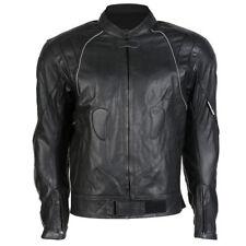 Blousons noir avec doublure en cuir pour motocyclette taille XL