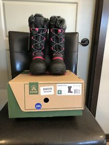 Youth/Juniors Kamik Snowgypsy3 Winter Boot Girls Black Rose Pink Size 6