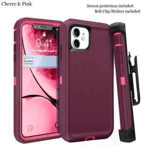 For iphone 11 Case Cover w/Screen & Clip Holster fit Otterbox Defender