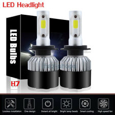 2Pcs 1320W 198000LM H7 COB LED Headlight Lights Kit Bulbs 6000K White One Pair