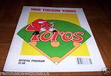 VINTAGE 1990 TUCSON TOROS  BASEBALL PROGRAM -  HOUSTON ASTROS AFFILIATE