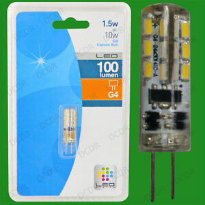 2x 1.5W G4 12V Capsule LED Ultra Low Energy Light Bulb, Halogen Replacement